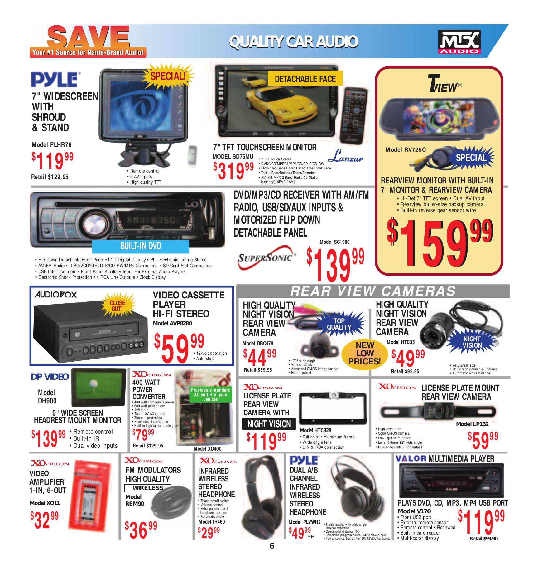 XOVision Car Video GX2148 pdf page preview