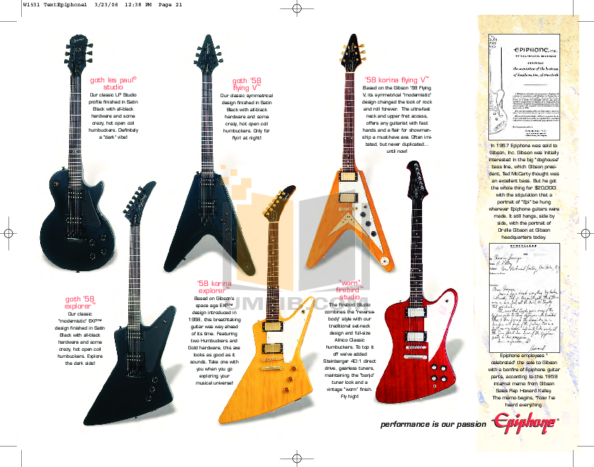 pdf for Epiphone Guitar Special II GT manual