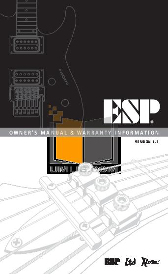 pdf for ESP Guitar MH-53 manual