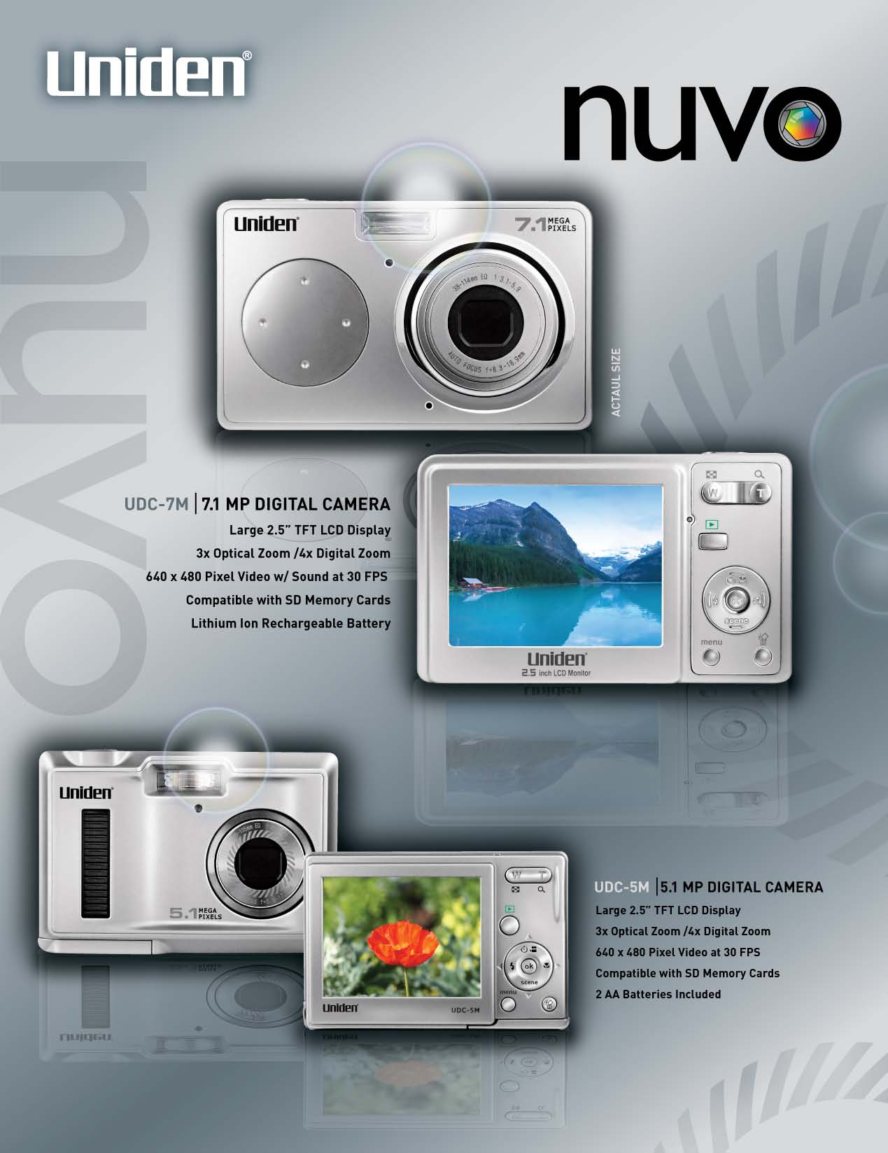 pdf for Uniden Digital Camera UDC5M manual