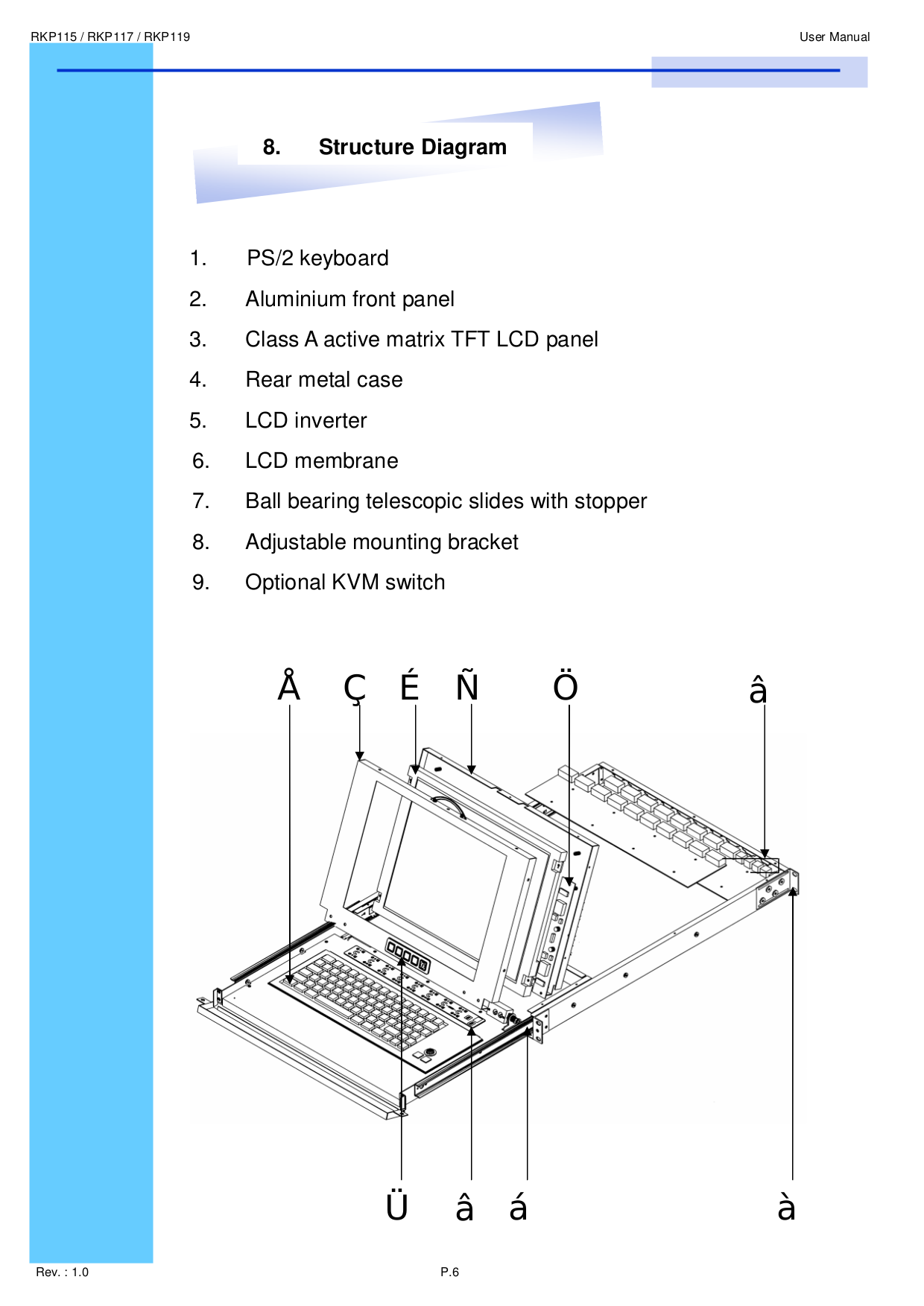 I-Tech Other RKP119-S801 Keyboard Drawers pdf page preview