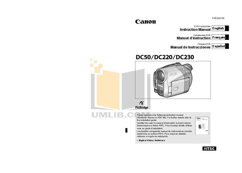 download free pdf for canon dc220 camcorders manual rh umlib com Canon 4K Camera Canon Elura 100