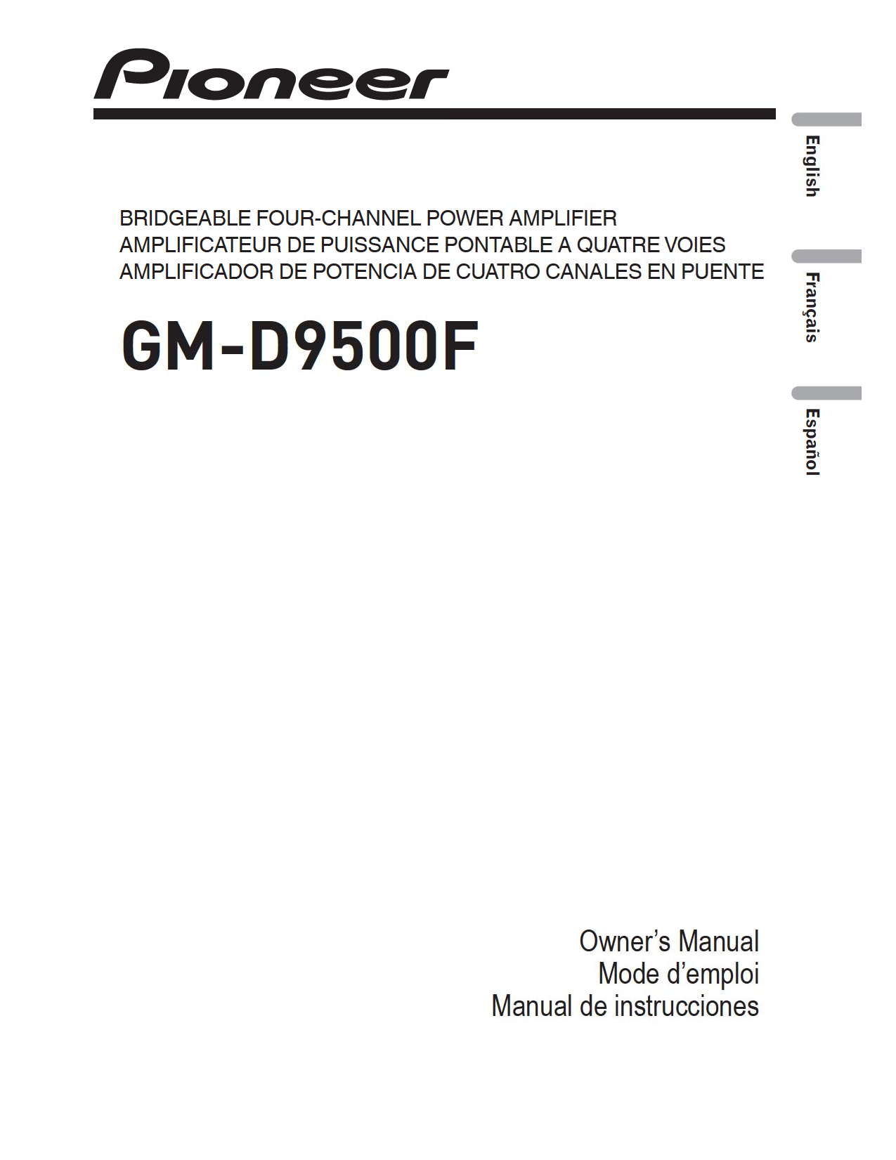 GM D9500F.pdf 0 pdf manual for pioneer car amplifier gm d9500f pioneer gm-d9500f wiring diagram at mifinder.co