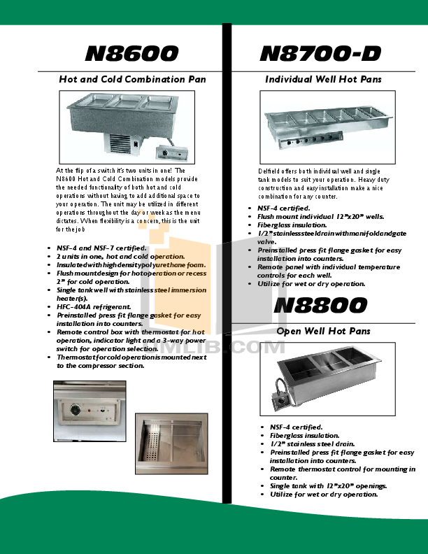 Delfield Other N8146NB Cold Pans pdf page preview