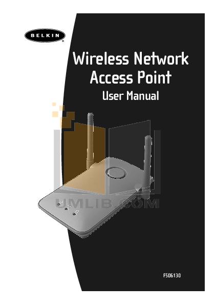 pdf for Belkin Router F5D6020 manual