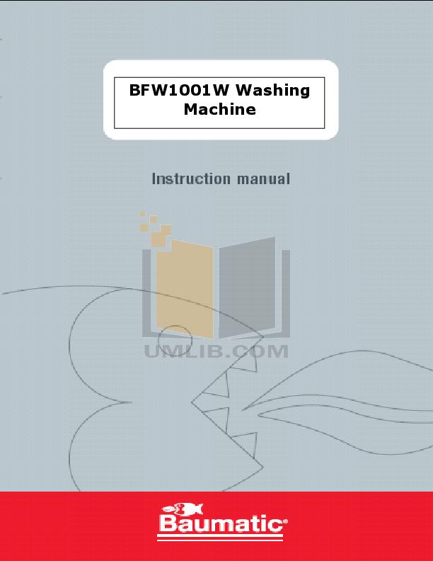 pdf for Baumatic Washer BFW1001W manual