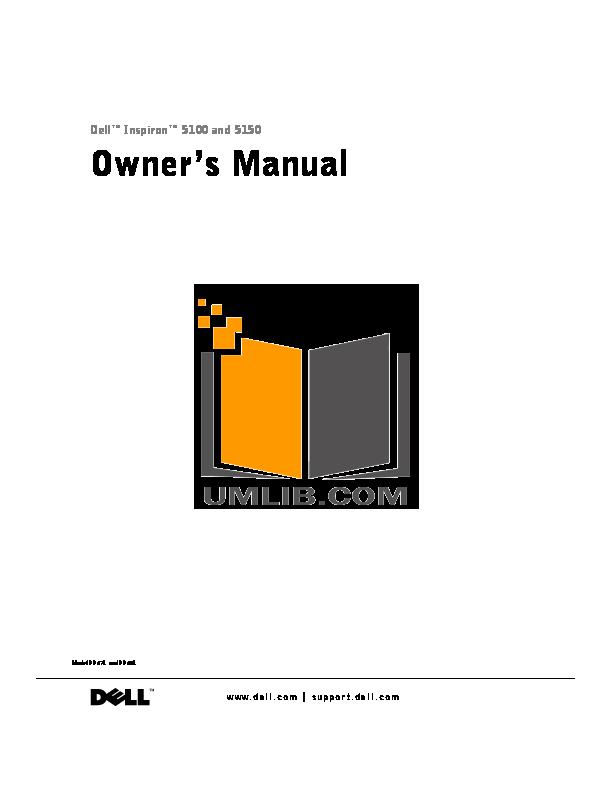 download free pdf for dell inspiron 5100 laptop manual rh umlib com dell inspiron 5100 manual service dell dimension 5100 manual