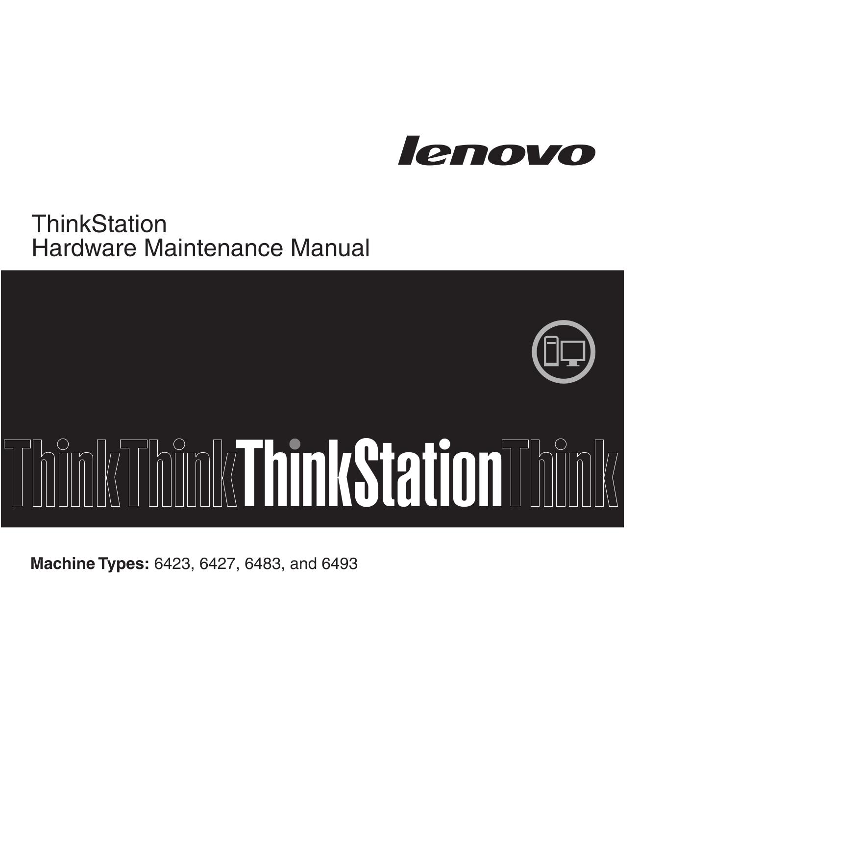 pdf for Lenovo Desktop ThinkStation S10 6423 manual