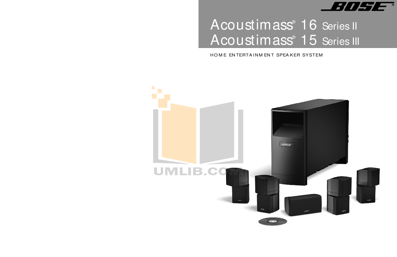 download free pdf for bose acoustimass 15 series iii speaker system rh umlib com bose acoustimass 16 series ii specs bose acoustimass 16 series ii specs