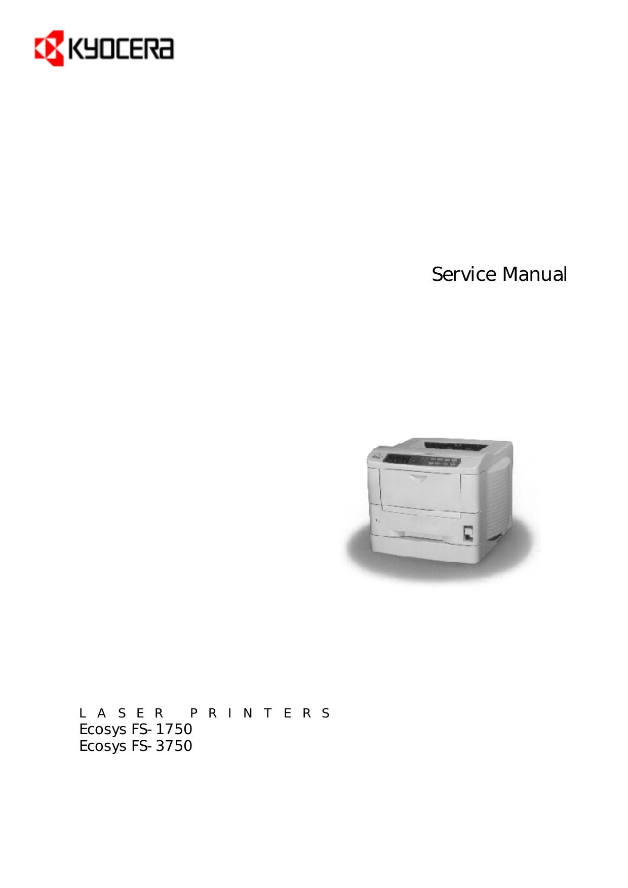 pdf for Kyocera Printer FS-1750 manual