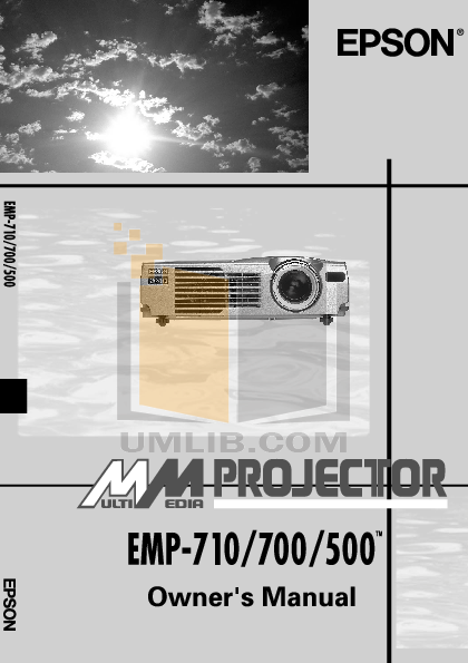 pdf for Epson Projector PowerLite 700c manual