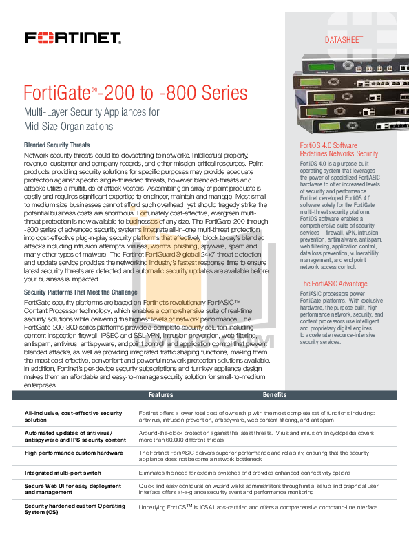 pdf for Fortinet Router FortiGate FortiGate-224B manual