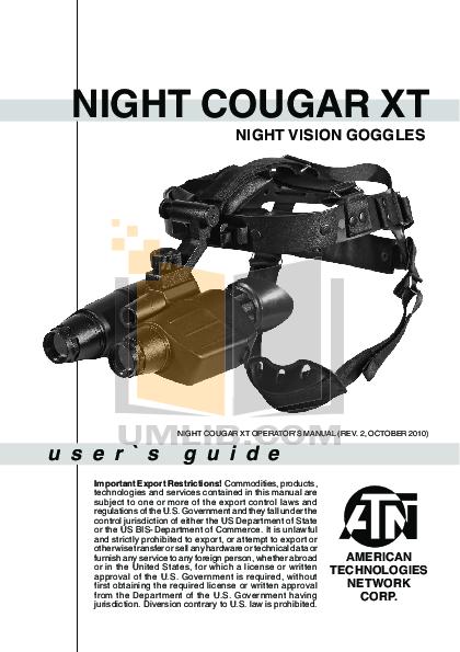 pdf for Atn Binocular Night Cougar manual