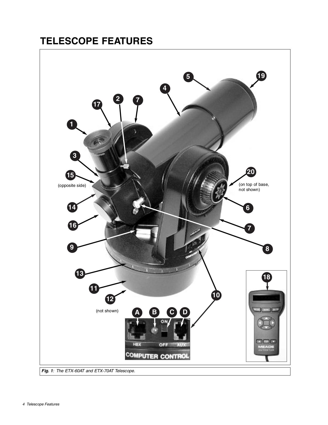 Meade etx-90 observer 90mm f/13. 8 maksutov-cassegrain telescope.