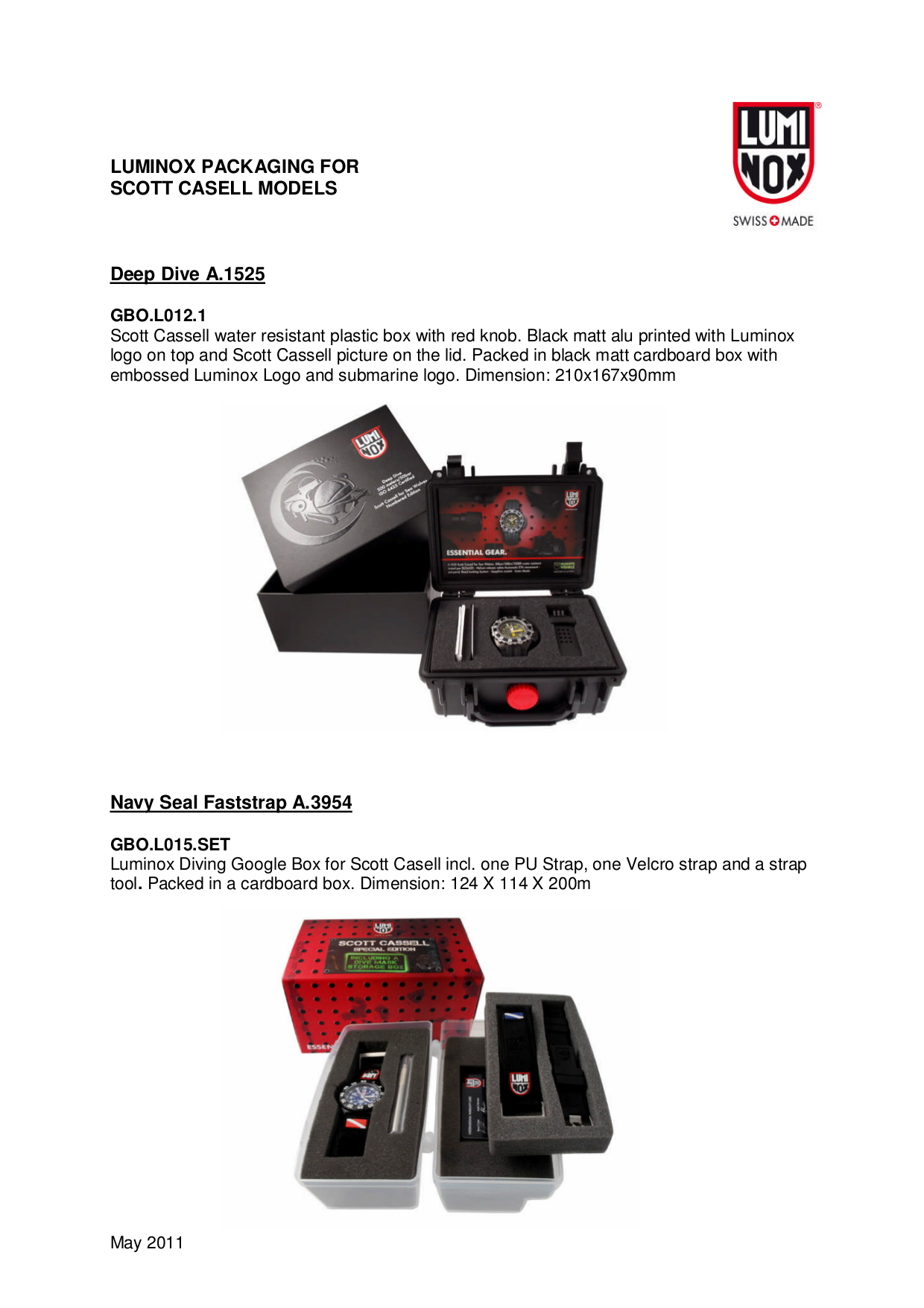 pdf for Luminox Watch Navy SEAL 3059 manual