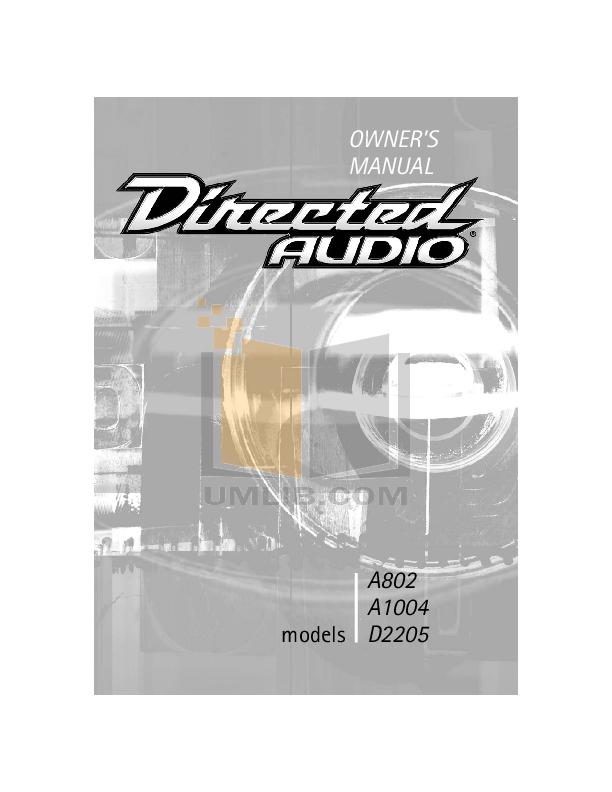 pdf for DEI Car Receiver A404 manual
