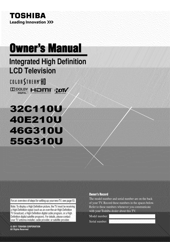 download free pdf for toshiba 46g310u tv manual rh umlib com Toshiba 65HT2U Toshiba 32C120U