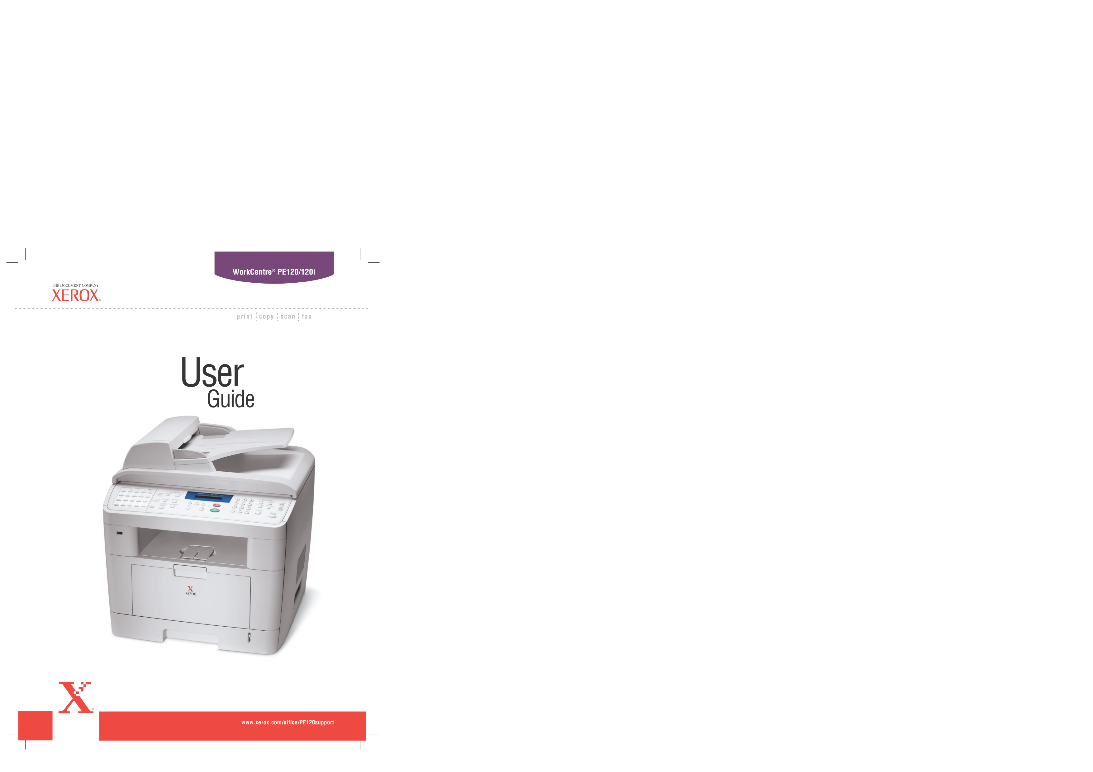 pdf for Xerox Printer WorkCentre 265 manual