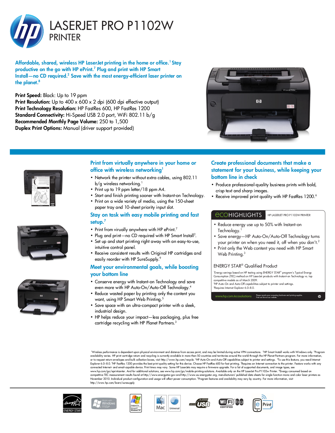 Download Free Pdf For HP LaserjetColor Laserjet Pro P1102