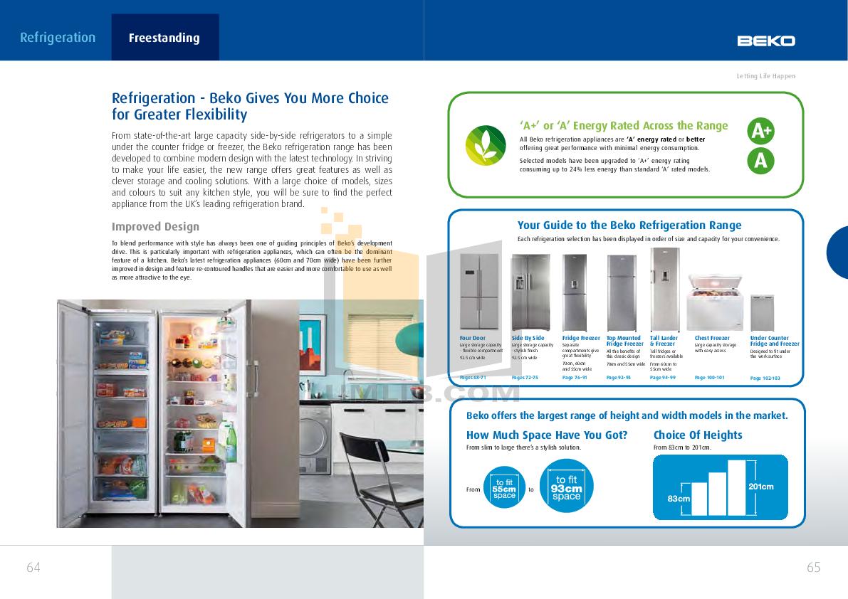 Beko Refrigerator CDA538 pdf page preview