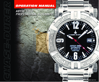 pdf for Chase-durer Watch Abyss 1000 Professional manual