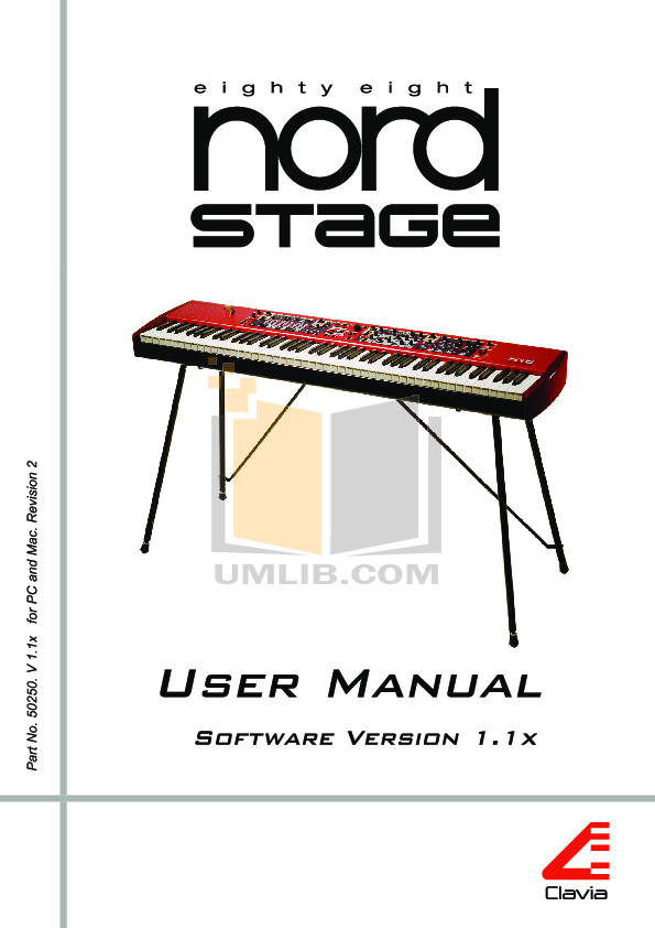 pdf for Clavia Music Keyboard Nord Stage manual