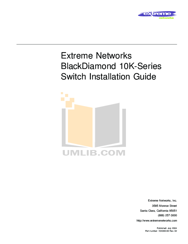 pdf for Extreme Other Summit GBX Network-Accessory manual