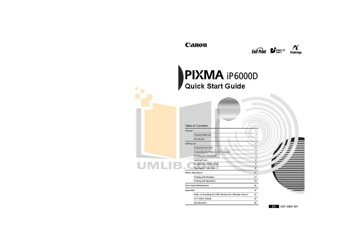 canon pixma printer instructions