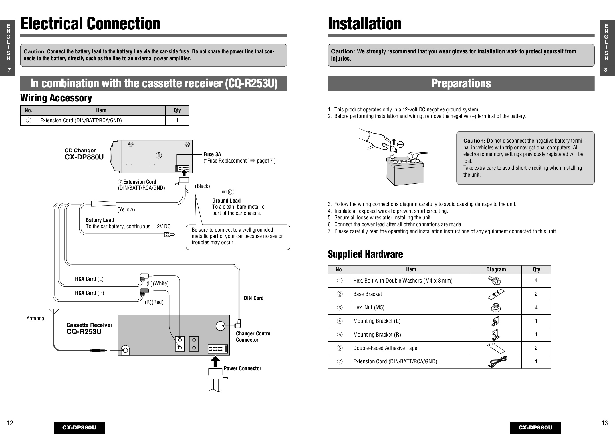 Panisonic Cq Hr1003u Wiring Diagram And Schematics How To Read Diagrams Car Pdf Panasonic Receiver Page Preview