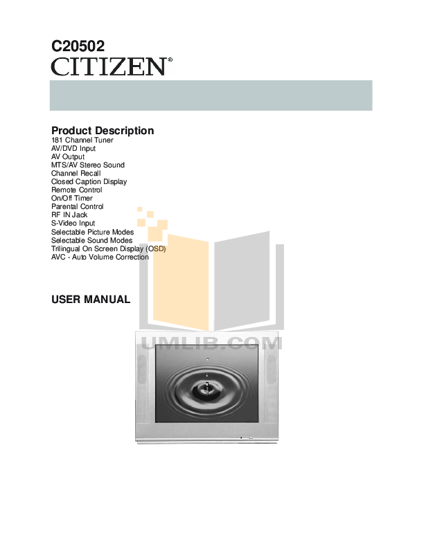 pdf for Audiovox Car Receiver AV-455 manual