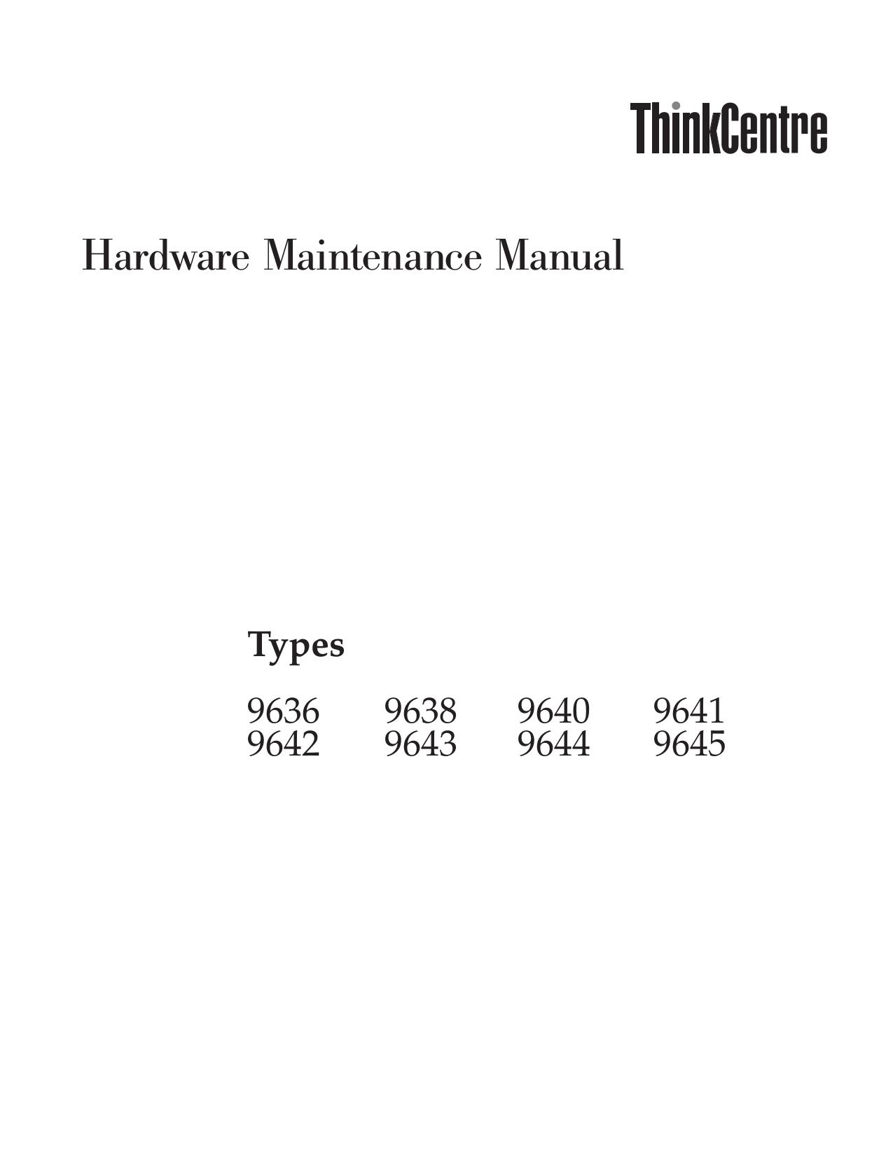 pdf for Lenovo Desktop ThinkCentre A55 9641 manual