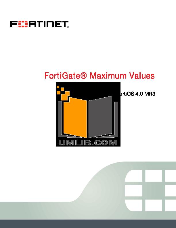 pdf for Fortinet Router FortiGate FortiGate-1000 manual