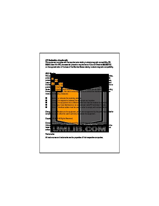 pdf for Encore Switch ENH905-NWY manual