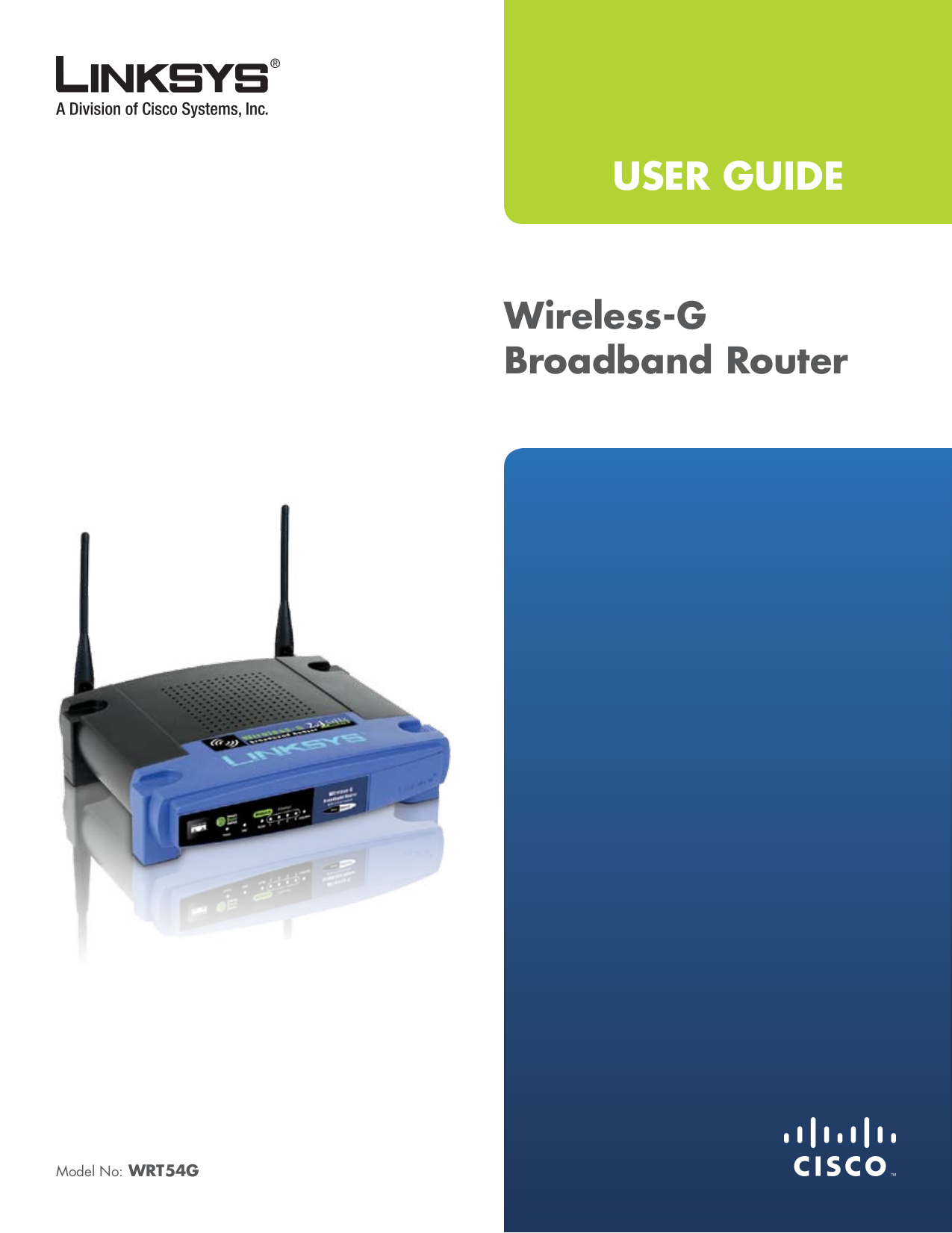 pdf for Linksys Router WET54G manual