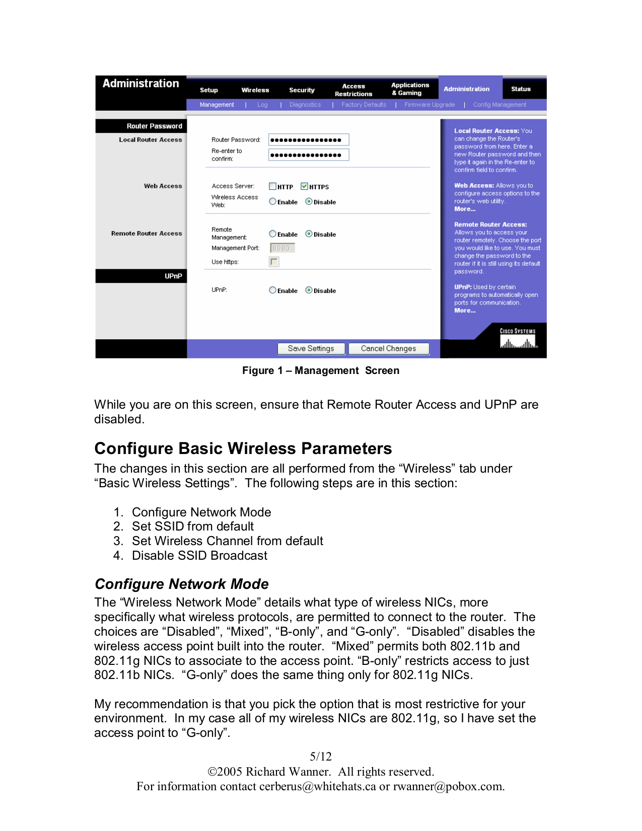 PDF manual for Linksys Router WET54G