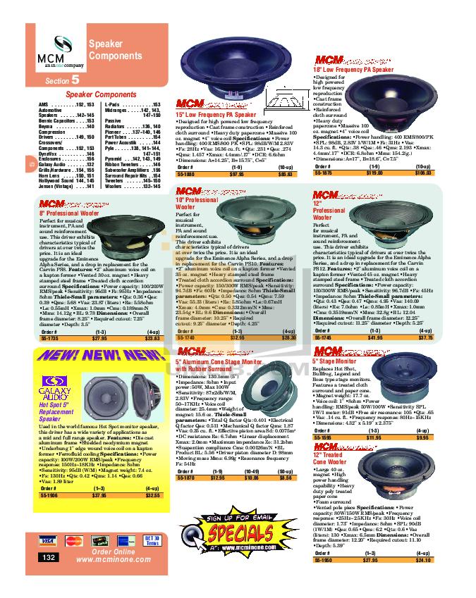 pdf for Energy Speaker EAS-6W manual
