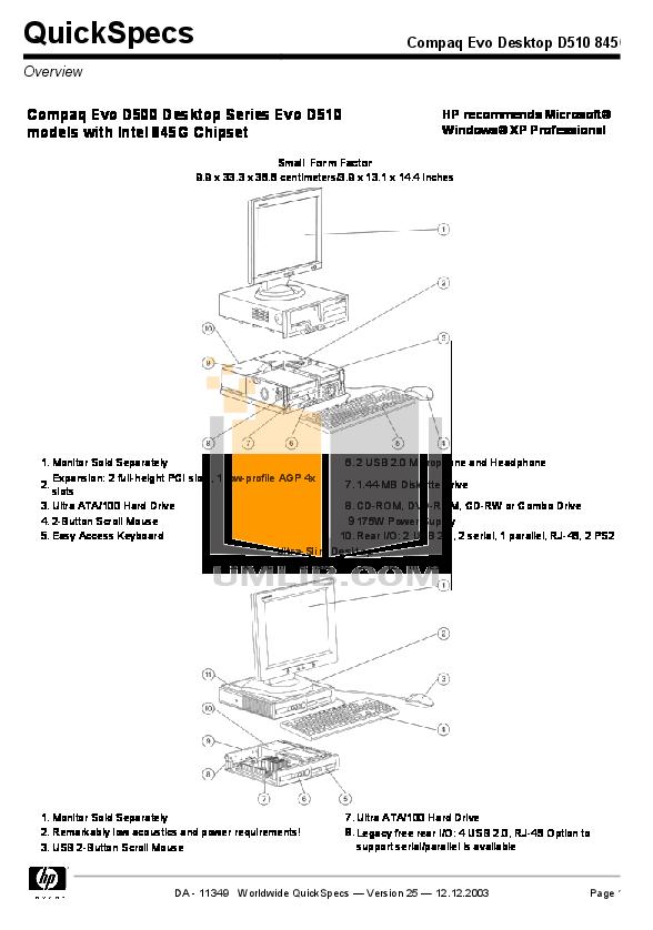 download free pdf for hp evo d510 sff desktop manual rh umlib com compaq evo d510 motherboard manual compaq evo d510 motherboard manual pdf