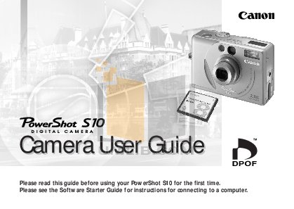 pdf for Canon Digital Camera Powershot S10 manual