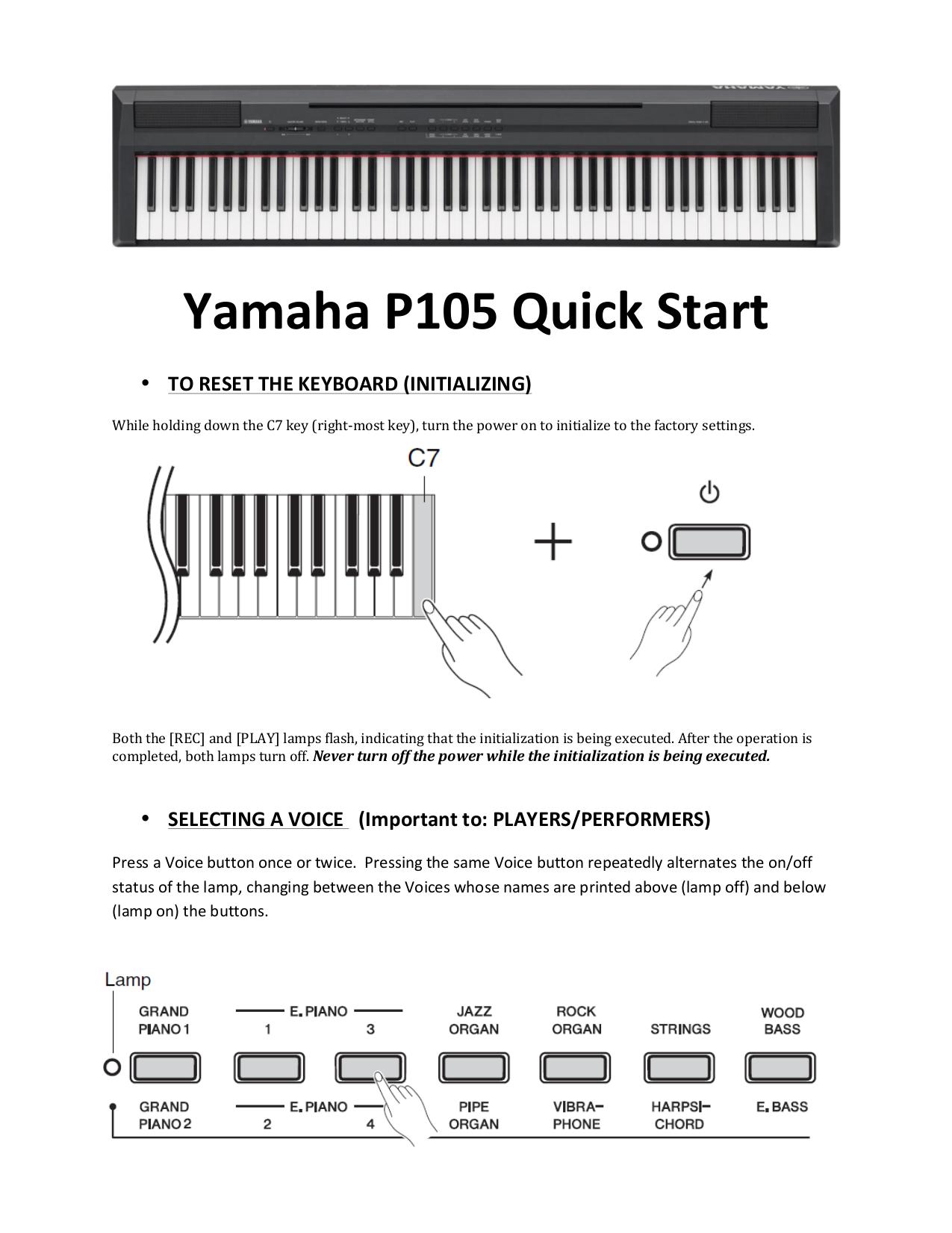 pdf for Yamaha Music Keyboard E-3 manual