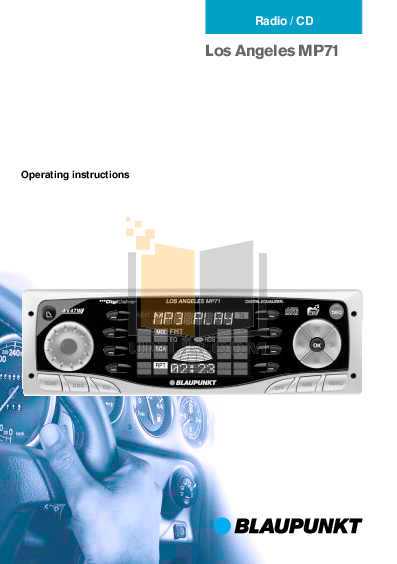 pdf for Blaupunkt Other Los Angeles MP71 Car-audio manual
