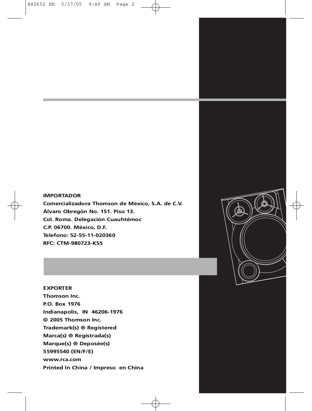 download free pdf for rca rs2652 stereo systems other manual rh umlib com Sony Manuals RCA 5 CD Changer Manual