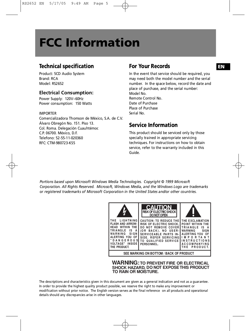 pdf manual for rca other rs2652 stereo systems rh umlib com RCA Home Theater Owners Manual RCA Clock Radio Manual