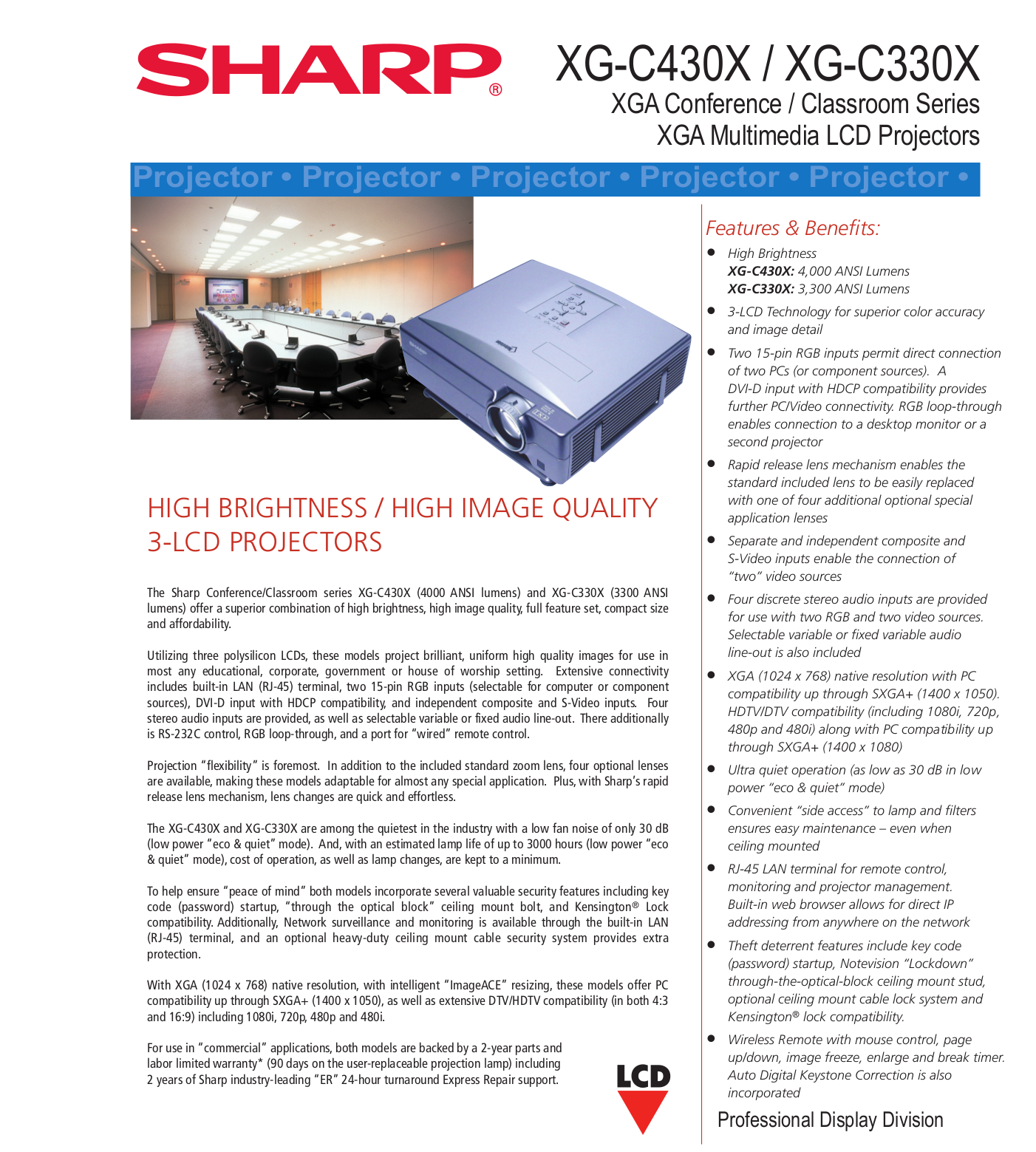 Notevision sharp projector manual.
