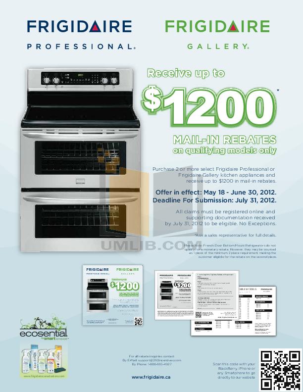 pdf for Frigidaire Refrigerator Gallery FGHT1846KF manual