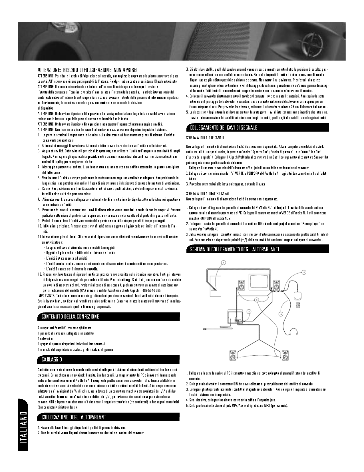 Klipsch Pro Media Wiring Diagram Page 4 And Diagrams Subwoofer Radio Source Pdf Manual For Speaker Promedia 1 Rh Umlib Com