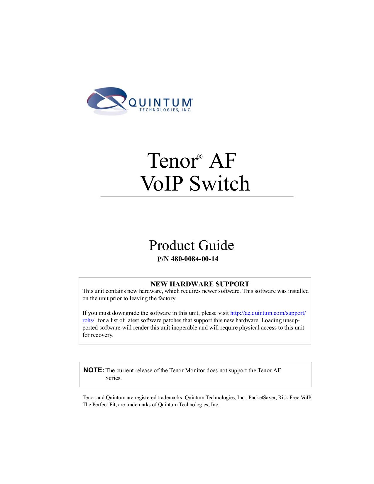 pdf for Quintum Switch AFM Series AFM200 manual