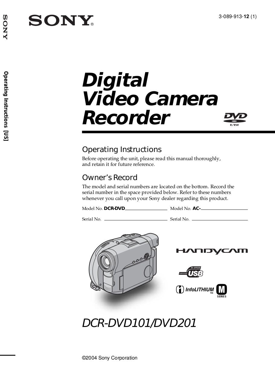 download free pdf for sony handycam dcr dvd201 camcorders manual rh umlib com sony dcr-dvd650 dvd camcorder manual Sony Handycam Camcorder