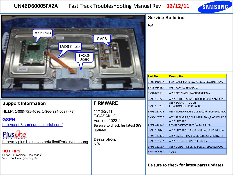 Download Free Pdf For Samsung Un46d6000 Tv Manual