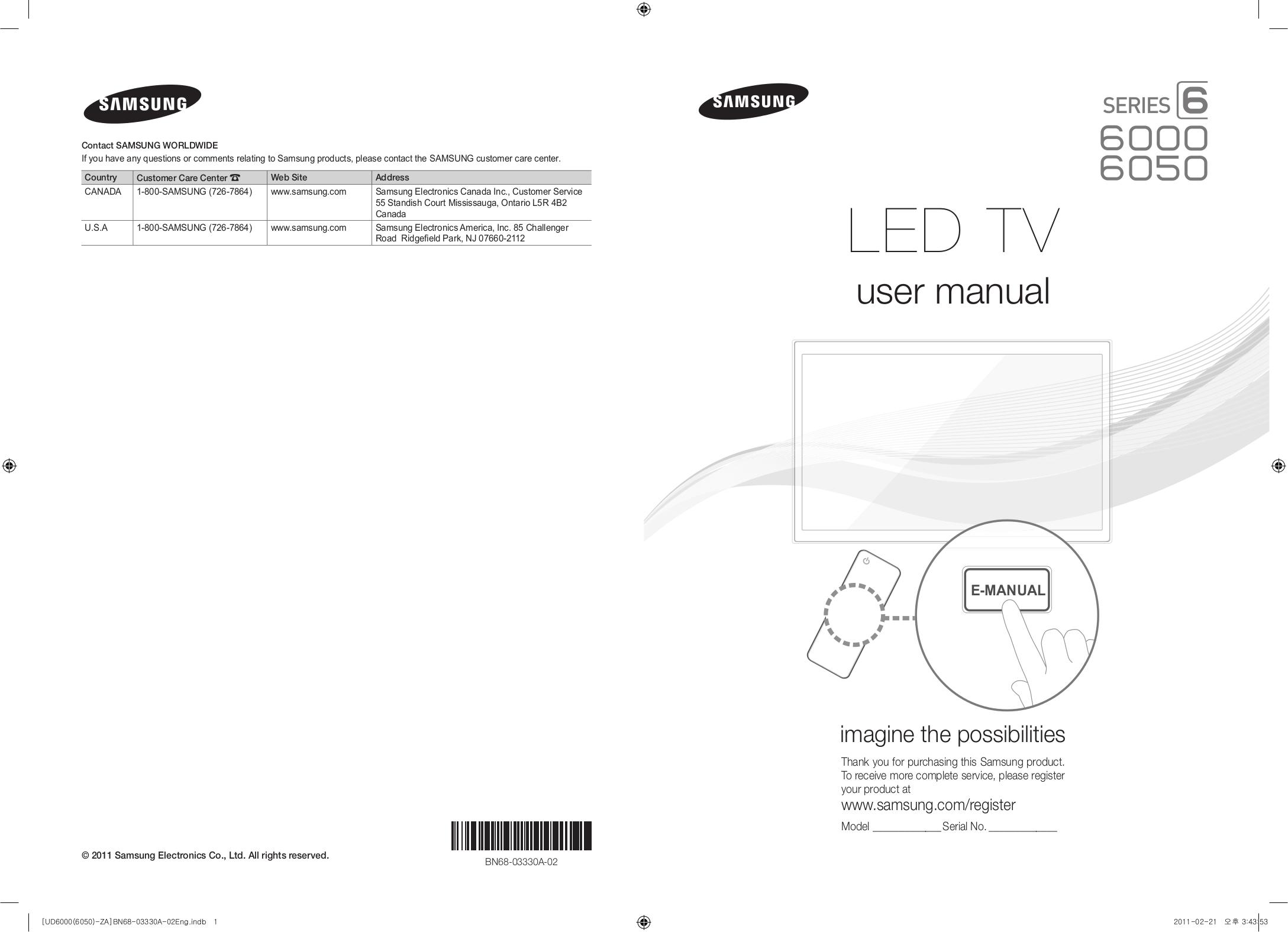 download free pdf for samsung un46d6000 tv manual rh umlib com samsung model un46d6000 user manual samsung un46d6000 service manual