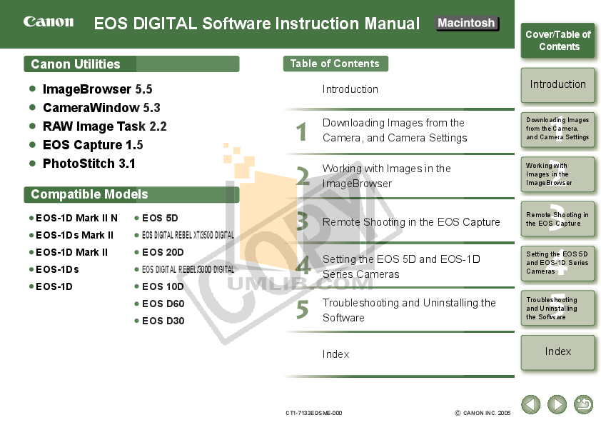 pdf for Canon Digital Camera EOS 20Da manual